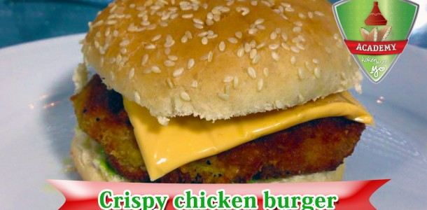 youtube thumbnail crispy chicken burger